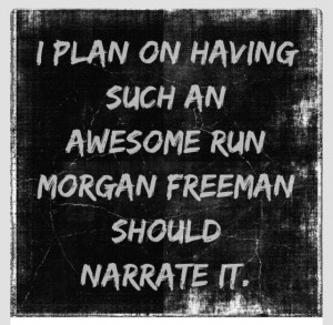 running morgan freeman narration