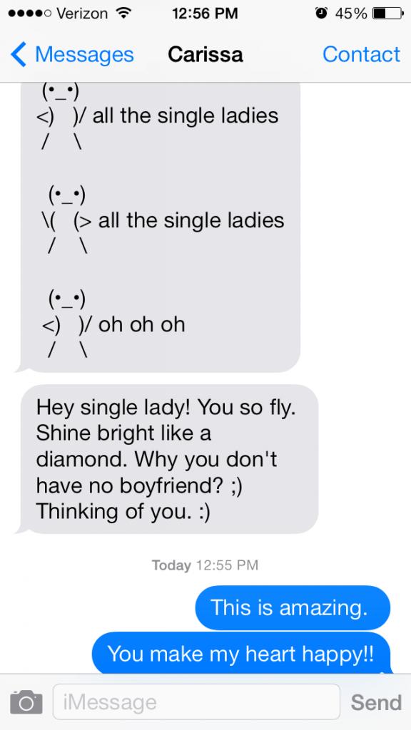 single ladies, carissa
