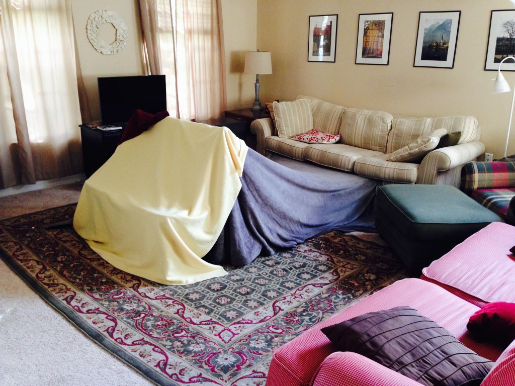 blanket fort childhood small