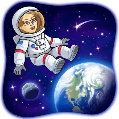 astronaut bitmoji space